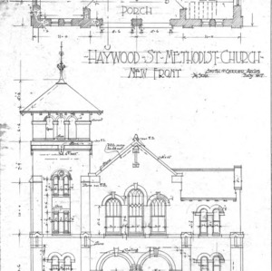Haywood St. Methodist Church--Front & Porch