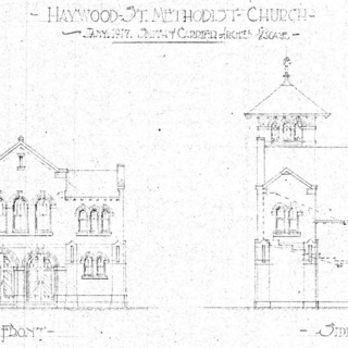 Haywood St. Methodist Church--Front & Side