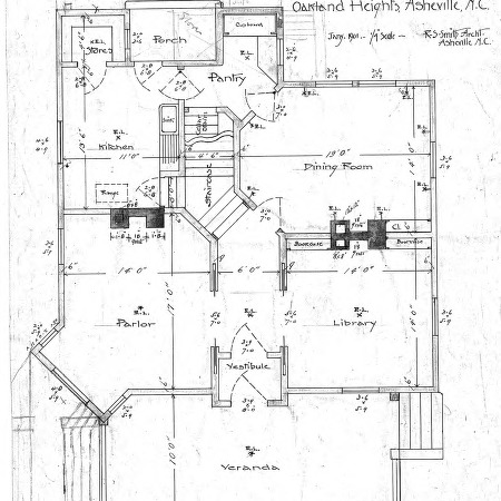 A Manse for the Presbyterian Church - Oakland Heights--Floor Plan (possibly 1st)