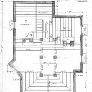 A Manse for the Presbyterian Church - Oakland Heights--Basement Plan