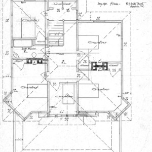A Manse for the Presbyterian Church - Oakland Heights--Chamber Plan