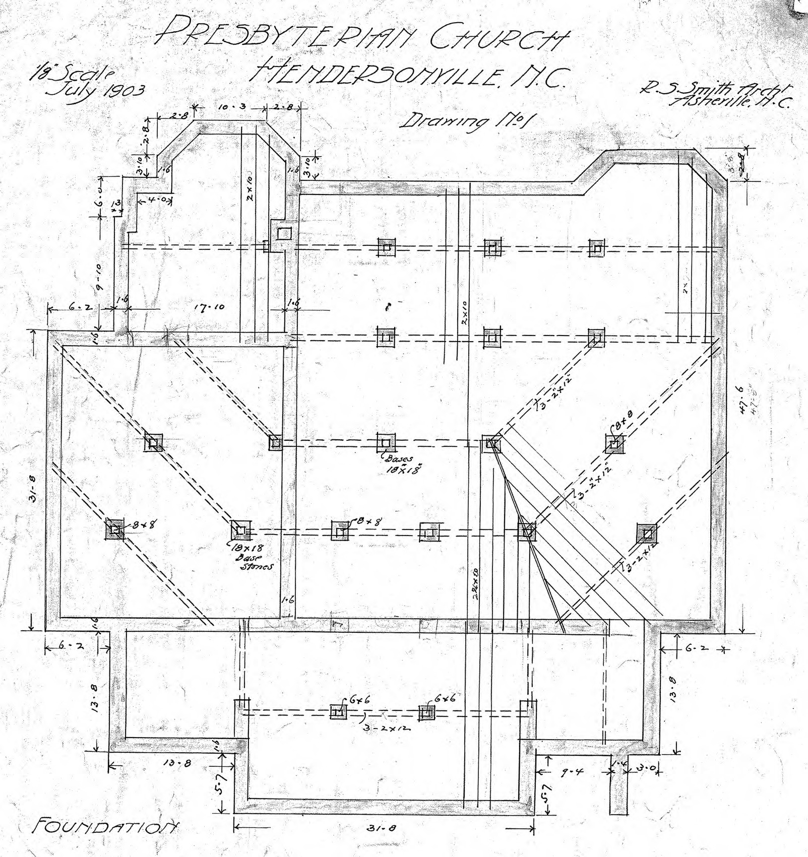 Foundation drawing for Foundation plan drawing