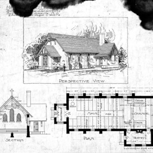 Church – unknown--Perspective Section Plan - Drawing No. 2