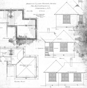 Baracca Classrooms Annex For Baptist Church--Floor Plans & Elevations