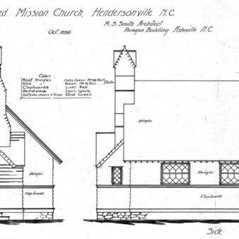 Proposed Mission Church--Front and Side