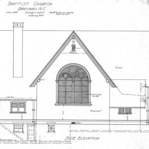 Baptist Church--Side Elevation