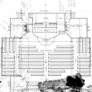 Baptist Church--Floor Plan--Drawing No. 2
