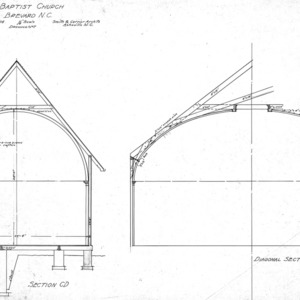 Baptist Church--Sections--Drawing--No. 7