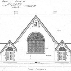 Baptist Church--Front Elevation