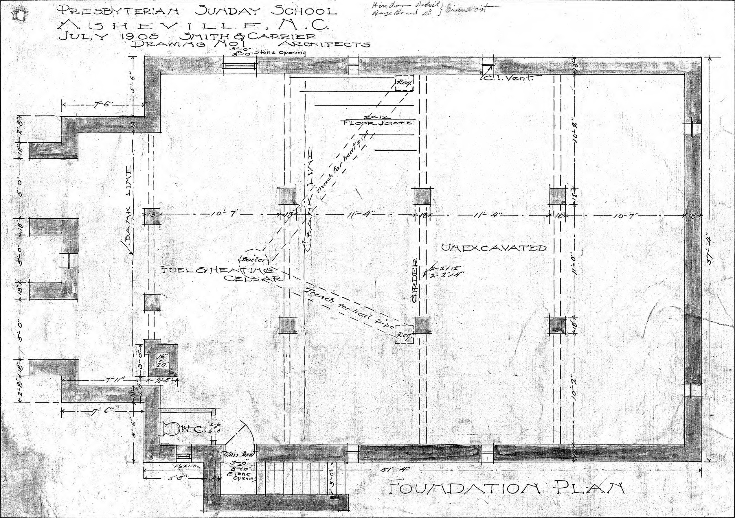 Foundation plan drawing for Foundation plan