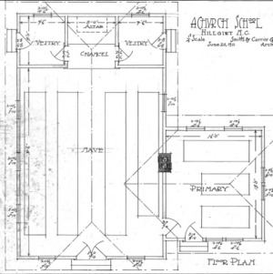 A Church School--Floor Plan
