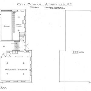 City School--Basement Plan & Roof