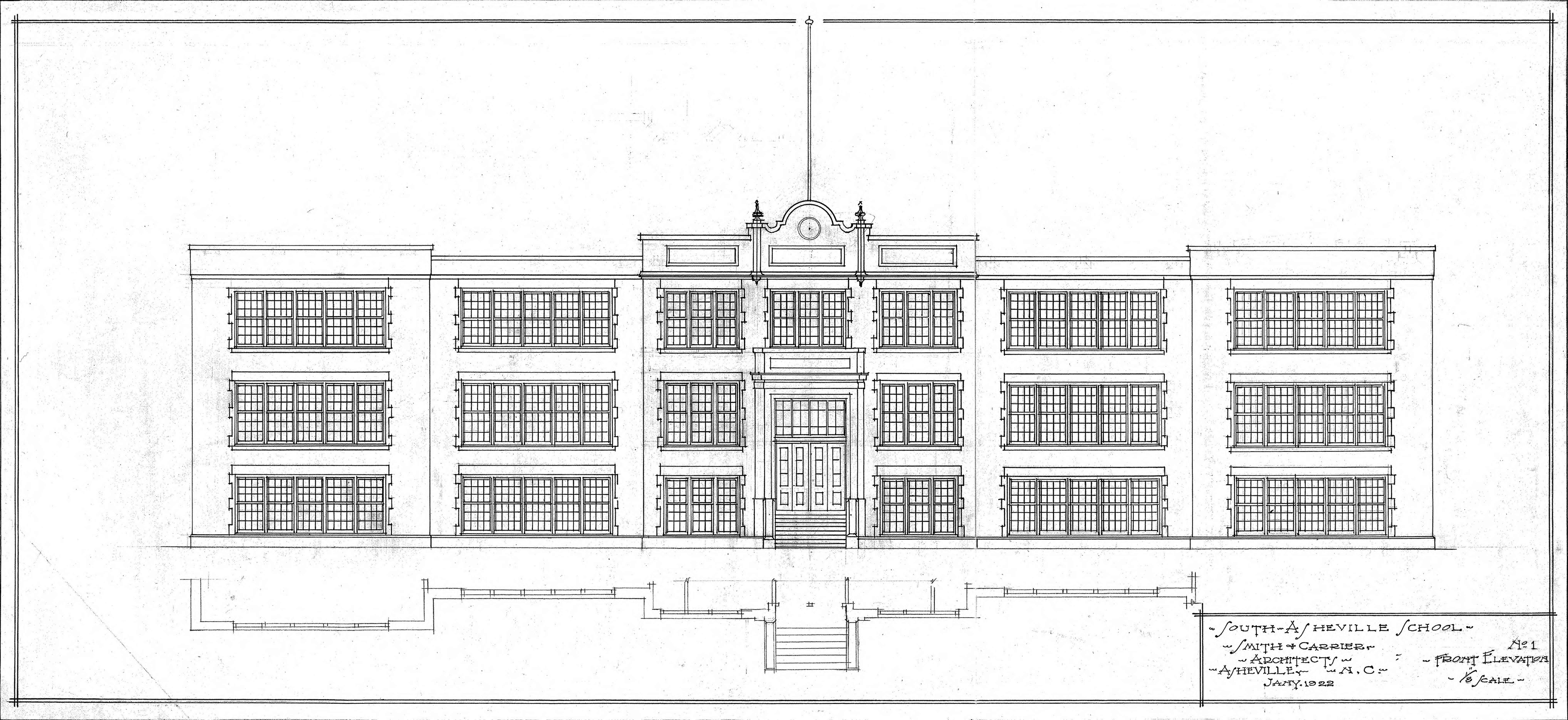 Front Elevation Designs For Schools : South asheville school front elevation no