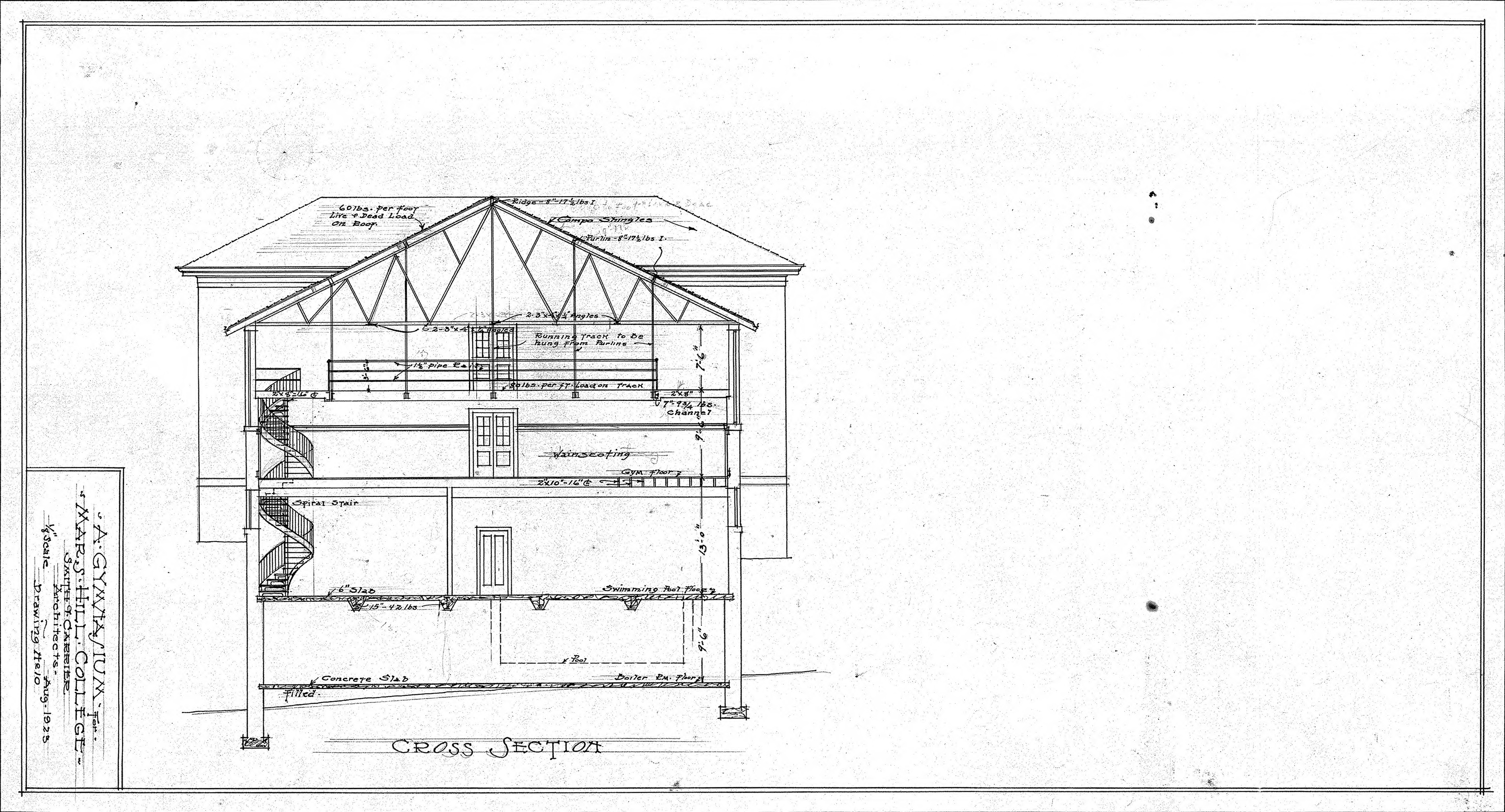 Cross Section Drawings College--cross Section