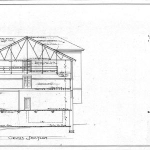 A Gymnasium for Mars Hill College--Cross Section - Drawing No. 10