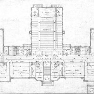 West Asheville School - Sulphur Springs Road--First Floor Plan - No. 3