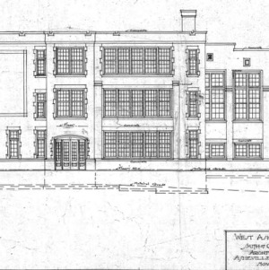 West Asheville School - Sulphur Springs Road--W. Side Elevation - No. 8