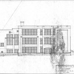 West Asheville School - Sulphur Springs Road --Left Elevation - No. 9