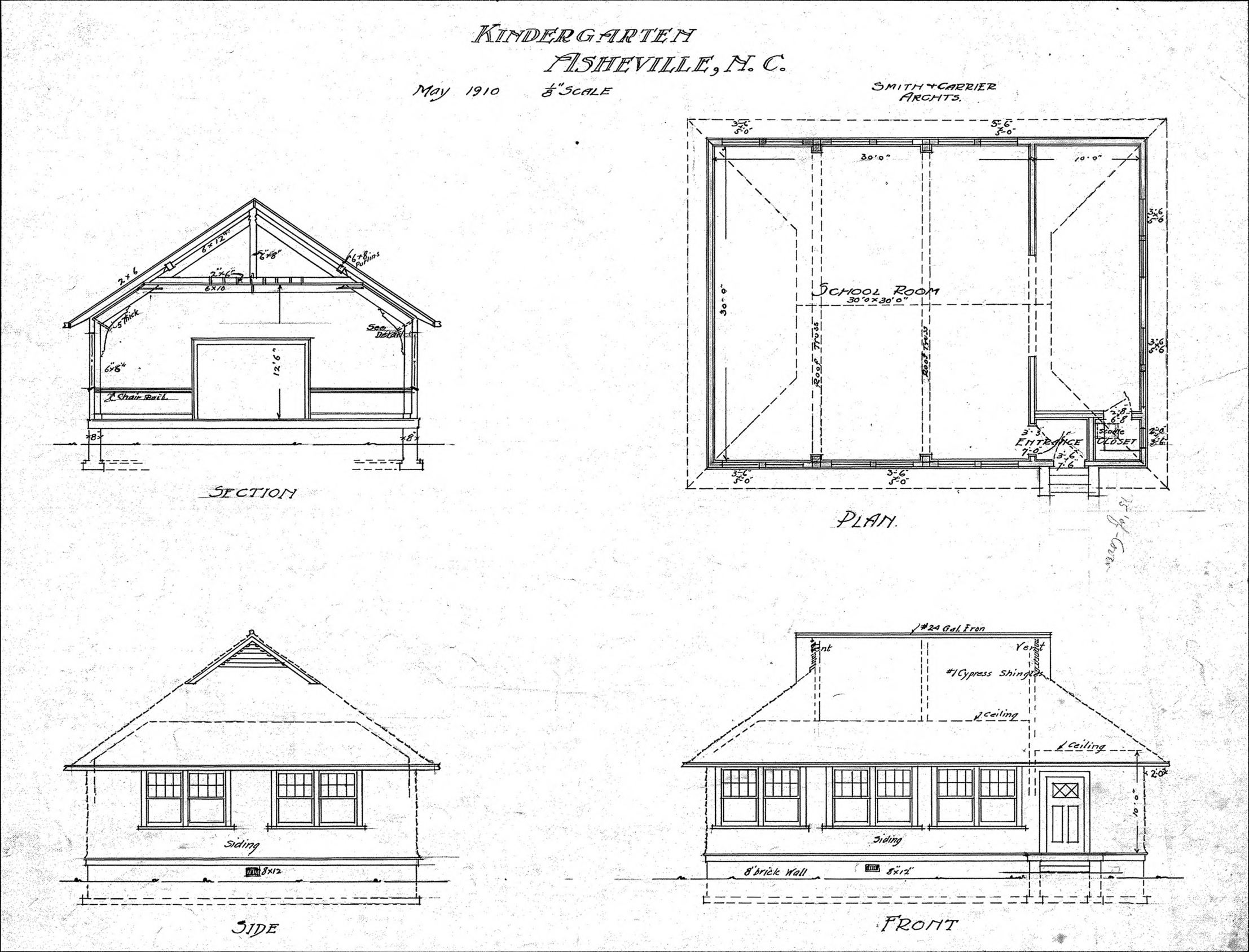 Plan With Elevation And Section : Plan elevation section