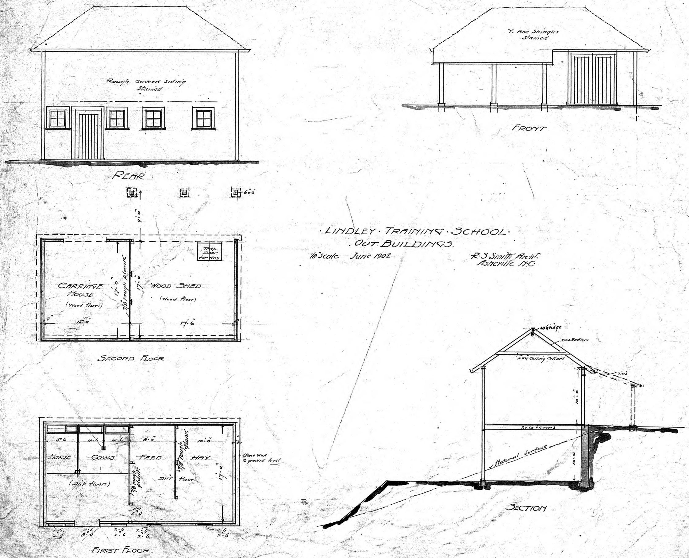 Plan With Elevation And Section : Section elevation plan