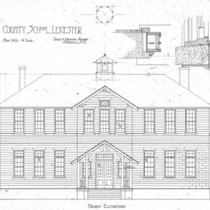 County School--Front Elevation