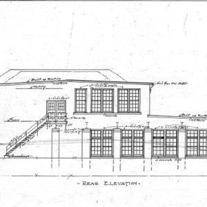 County School--Rear Elevation