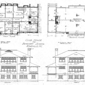 Club House for Bingham School--First & Second Floor South & North Elevations