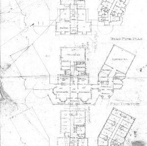 Asheville School for Girls - N. Main & Woodfin Street-- Second & Third Floor Plan