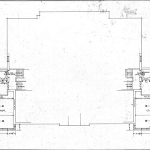 Additions to Woodfin School--First Floor Plan - No. 2