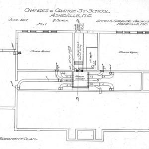Changes to Orange Street School--Basement Plan - No. 1