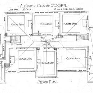 Additions to Orange Street School--Second Floor