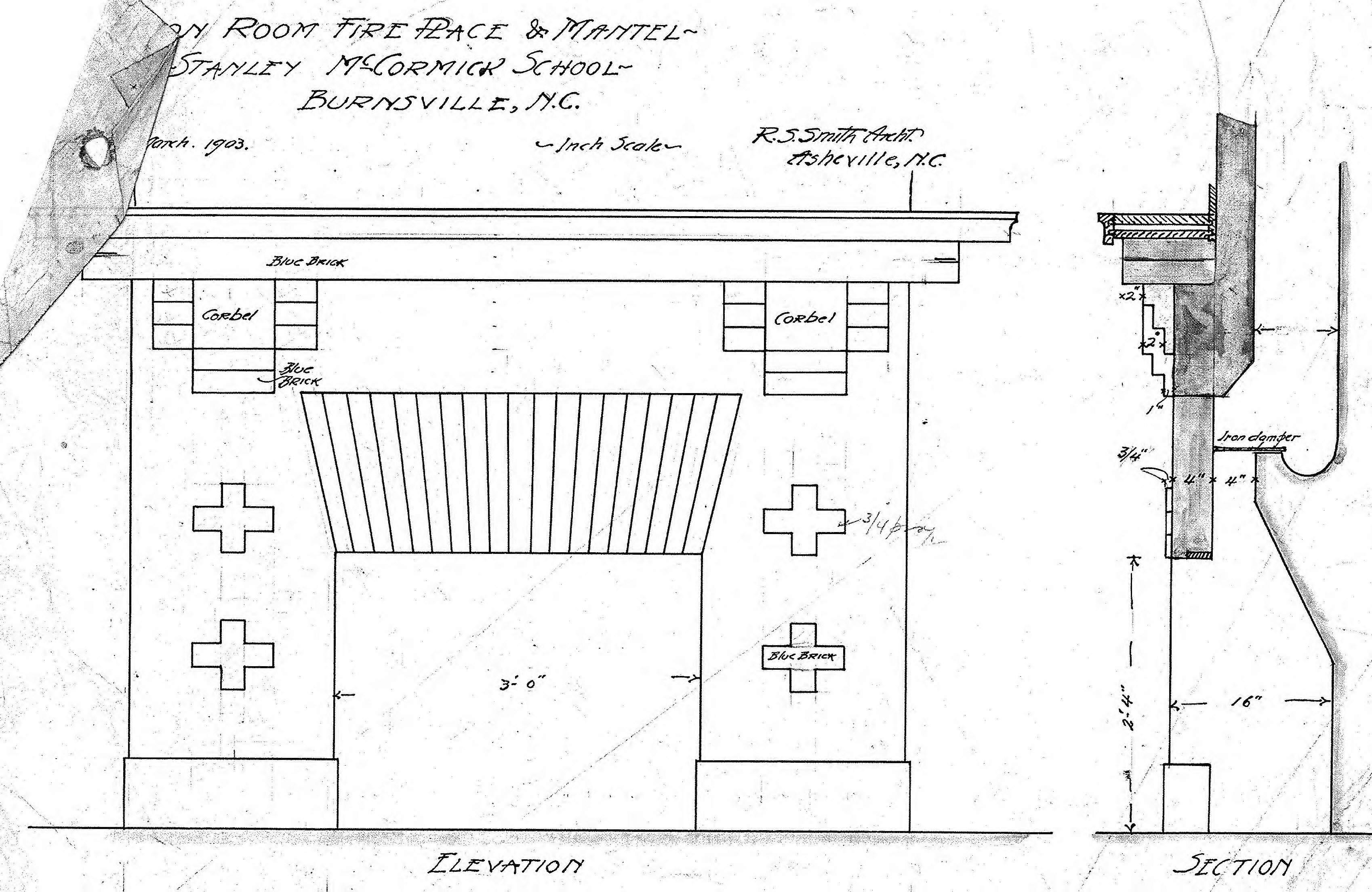 Fireplace Construction Drawings
