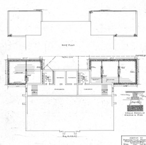 Addition to Barnardsville School--Basement & Roof Plan