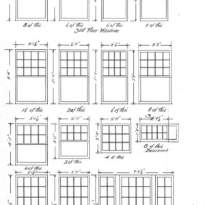 Ardmion - Alterations and Additions for Mrs. O. C. Hamilton--List of Windows