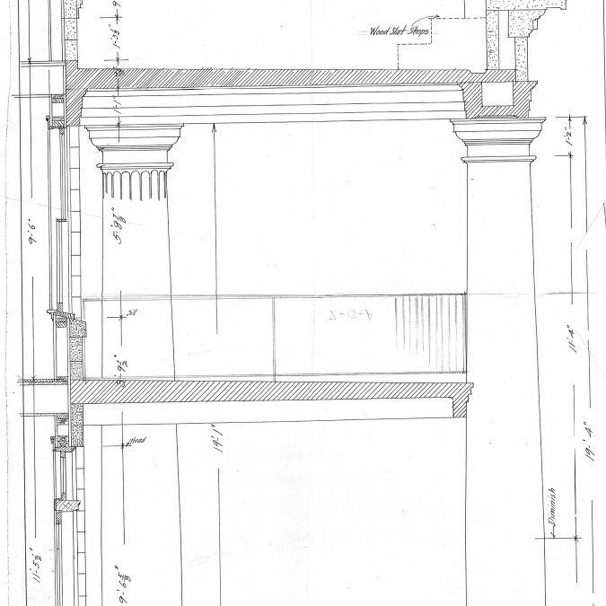 Ardmion - Alterations and Additions for Mrs. O. C. Hamilton--Details - Supports and Columns