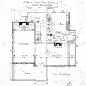 A House in Grove Park for W.W. Turnbull, esq--First Floor Plan