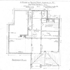 A House in Grove Park for W.W. Turnbull, esq--Basement Plan