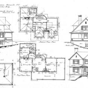 Cottage- Montford Avenue- for H.A. Miller-Floor Plans & Elevations