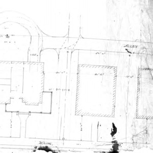 Residence- Miss Cora Drummond- Magnolia Ave.--Sketch- Walk