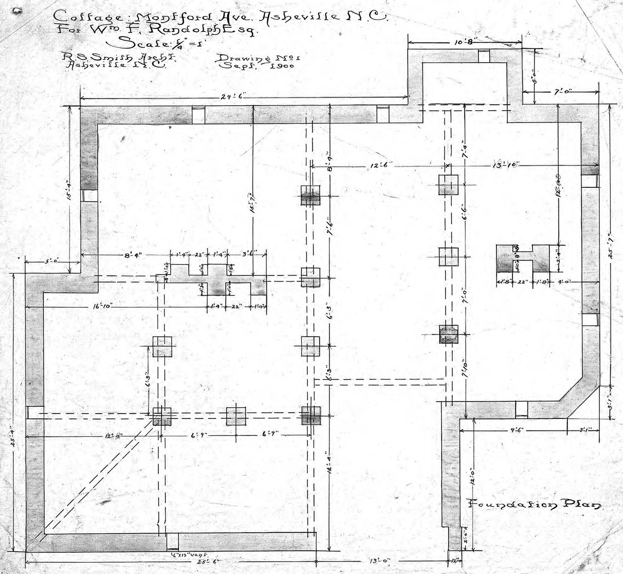 foundation plan drawing