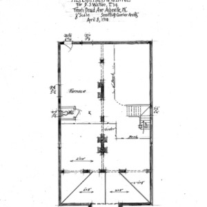 Alterations to Cottage- for D.S. Watson, French Broad Ave.--Foundation