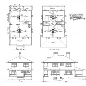 Alterations to Cottage- for D.S. Watson, French Broad Ave.--Front, Side, First Second Floors