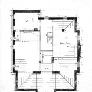 A Residence- Watauga St.- for Mrs. A.F. Hall--Basement Plan