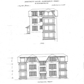 Apartment House- Albemarle Park- for E.W. Grove--Side & Entrance Front