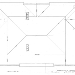 Apartment House- Albemarle Park- for E.W. Grove--Roof Plan