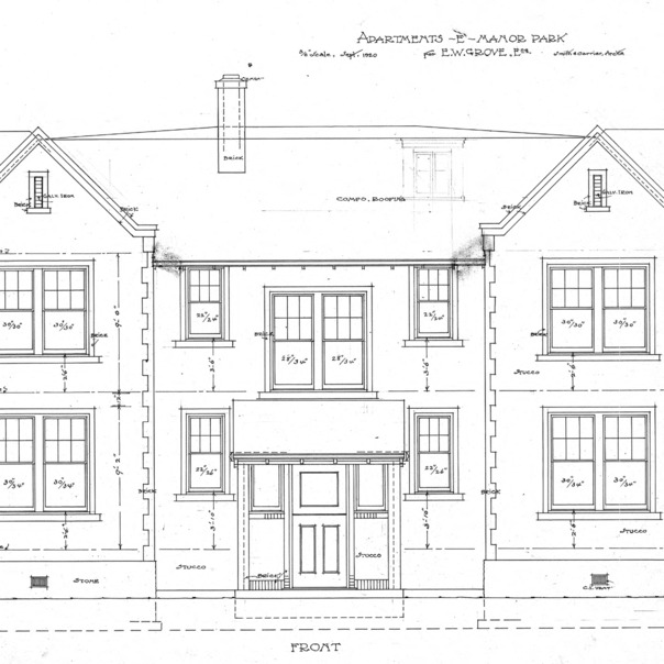 Apartment House- Albemarle Park- for E.W. Grove--Front