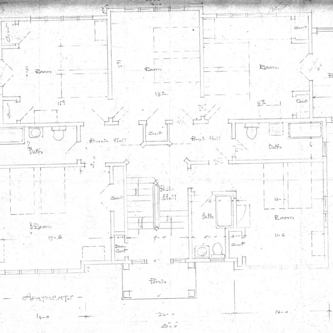 Apartment House- Albemarle Park- for E.W. Grove--Floor Plan