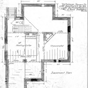 A Cottage- Pearson Drive for the Misses Hawthorne--Basement Plan