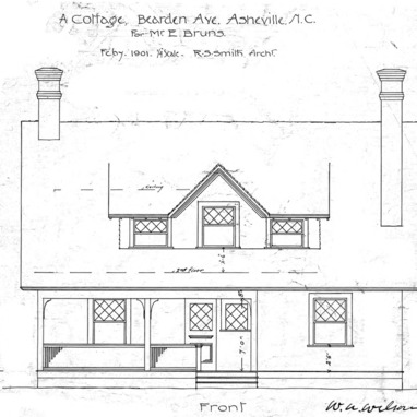 A Cottage- Bearden Ave.- for Mr. E. Bruns--Front