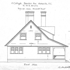 A Cottage- Bearden Ave.- for Mr. E. Bruns--East Side